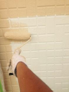 1階のサイディング壁のガイナ塗装です。 拡大