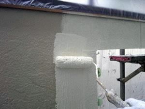 外壁サイディング塗装中塗り2