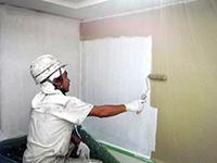 8モルタル壁ガイナ塗装中塗り(2層目)2