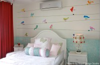 Mix Up Stencils to Get a Cute Girls Bedroom | Paint + Pattern