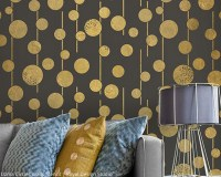 Get Alluring Accent Walls with Stencils   Paint + Pattern