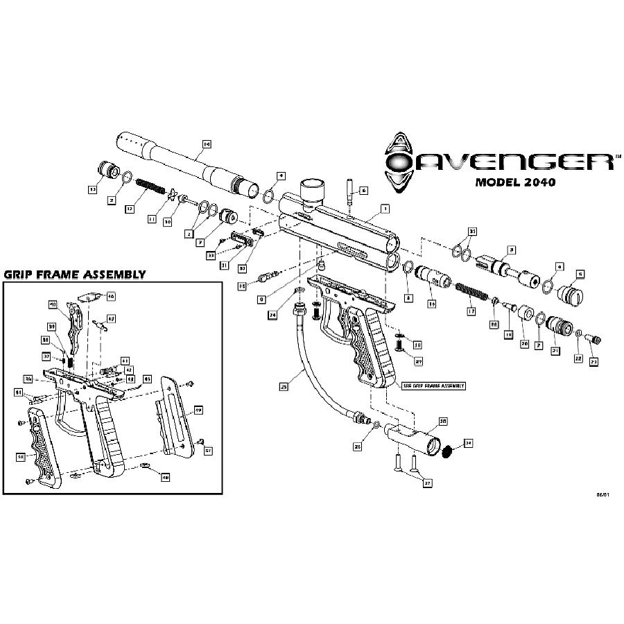 sku brass eagle avenger 1 gun diagram