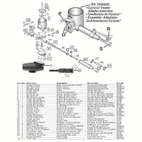 sku tippmann 98 custom act gun diagram