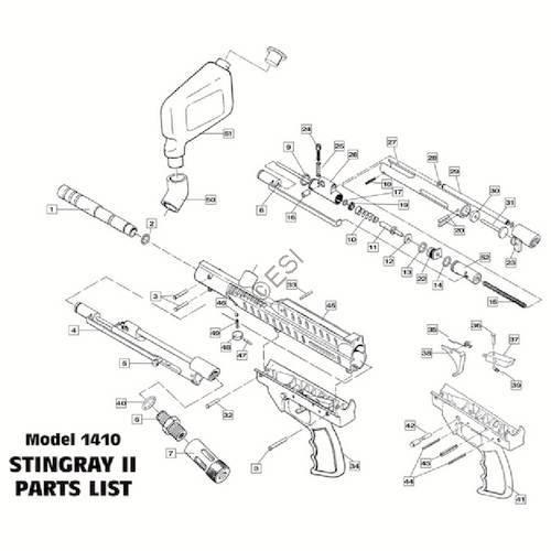 sku brass eagle stingray gun diagram