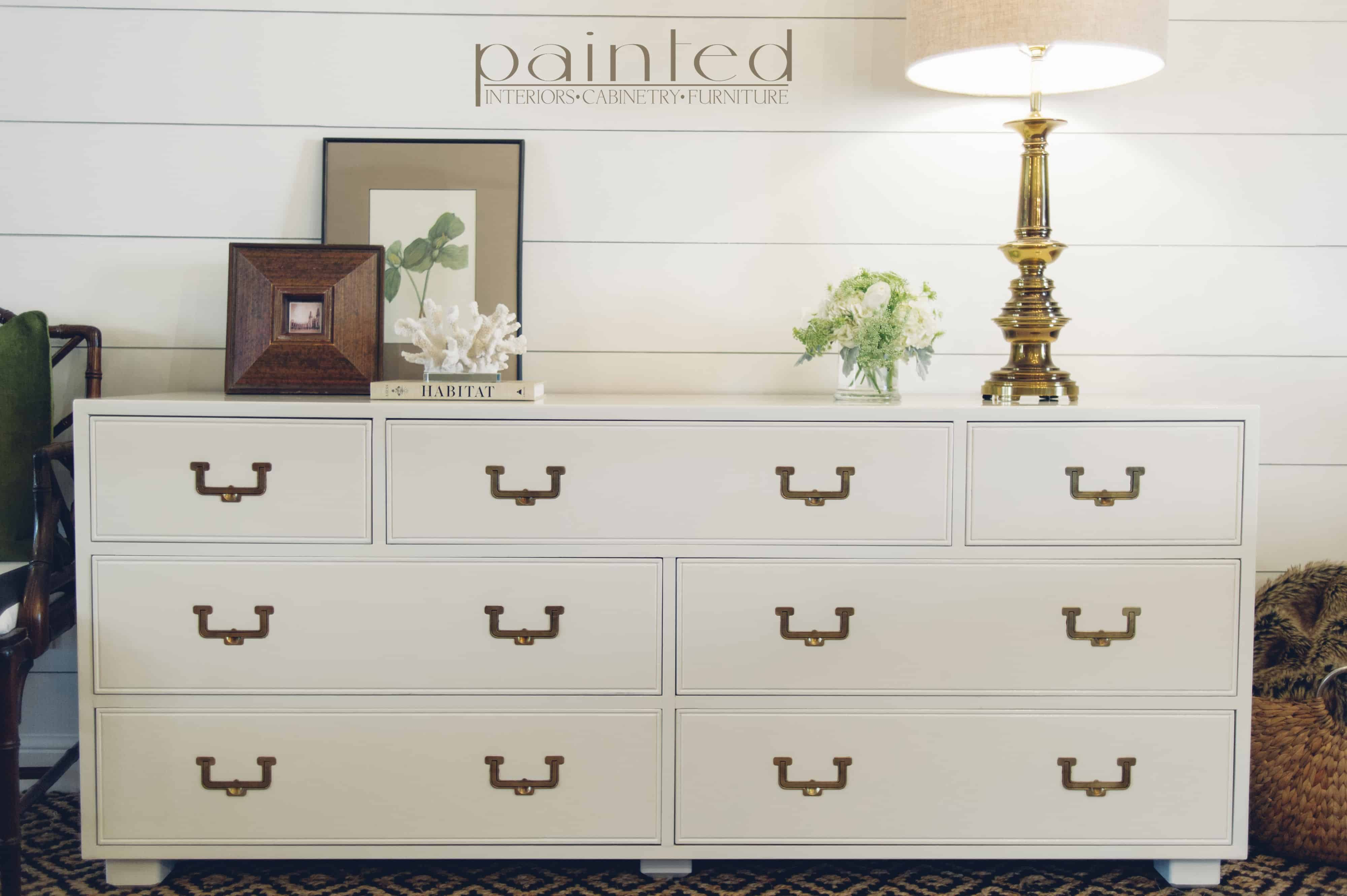 Vintage Henredon Artefacts Campaign Dresser Painted In Fine Paints Of Europe Hollandlac Brilliant Painted By Kayla Payne
