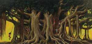 Herb-Kawainui-Kane_Under-The-Banyan-Tree_1978_ b.1928