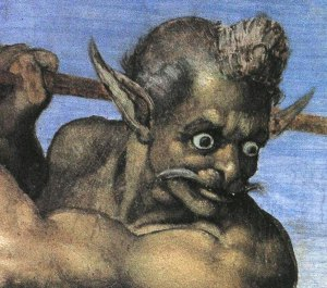 Michelangelo_Last-Judgment(detail-of-Charon)