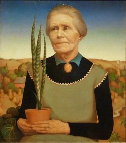 Grant Wood_WomanwithPlants