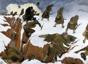john-nash_over-the-top-1st-artists-rifles-at-marcoing-30th-december-1917