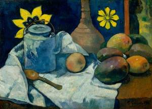 paul-gauguin_still-life-with-teapot-and-fruits_1896