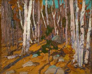 tom-thomson_forest-interior-birches_1916