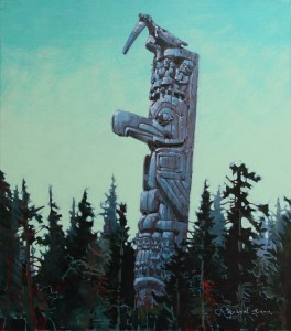Forest Spirit Rising 34 x 30 inches, acrylic on canvas by Robert Genn