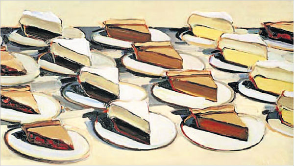 Pies-Pies-Pies-1961-by-Wayne-Thiebaud.-