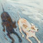 wayne thiebaud dog and shadow