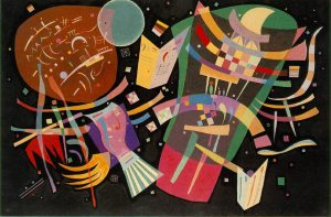 Composition x (1939) 51.2 × 76.8 inches oil on canvas by Wassily Kandinsky
