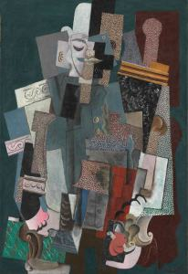 Man with a Pipe, 1915 oil on canvas by Pablo PIcasso