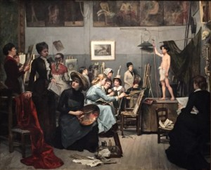 The Studio, 1881 oil on canvas by Marie Bashkirtseff (1858-1884)