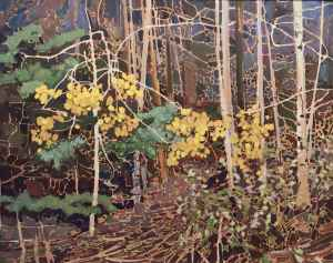 Golden Surprise, 1979 24 x 30 inches Acrylic on canvas by Robert Genn