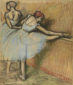 Dancers at the Barre, c. 1900 pastel on paper by Edgar Degas