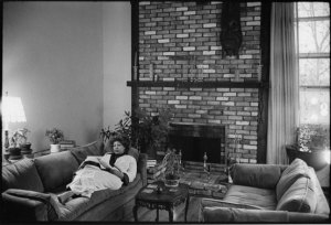 Toni Morrison at her home in Spring Valley, near Nyack, NY Jill Krementz photo