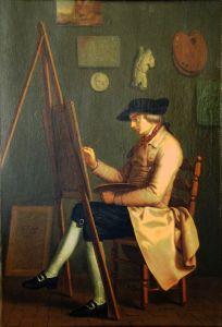 Self-Portrait, 1785 oil on linen by Johann Heinrich Wilhelm Tischbein