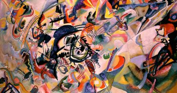 Composition VII, 1913 oil on canvas 78.25 by 119.1 inches by Wassily Kandinsky (1866-1944)