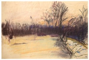 Vermont Landscape, 1967 Pastel on paper 11.5 x 17.25 inches by Wold Kahn (b. 1927)