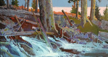 The Eternal Spring, Unnamed Creek, Lake of the Woods, Ontario, 2011  Acrylic on canvas 24 x 30 inches by Robert Genn (1936-2014)