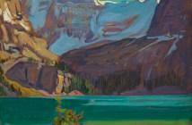 Lake O'Hara, Rockies, 1926 oil on wood-pulp board 21.5 X 26.6 cm by J.E.H. MacDonald
