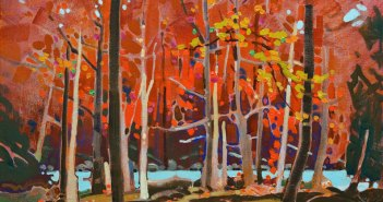 Bright Counterpoint, c. 2000 Acrylic on canvas 16 x 20 inches by Robert Genn (1936-2014)