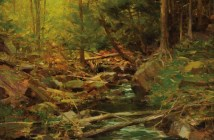 Berkshire Forest (date unkown) Oil on linen 15.5 x 19.5 inches by Richard Alana Schimd (b.1934)