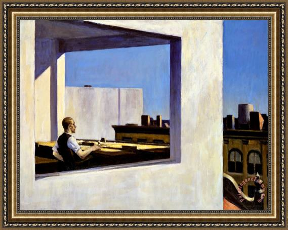 Edward Hopper Office in a Small City Framed Print for sale