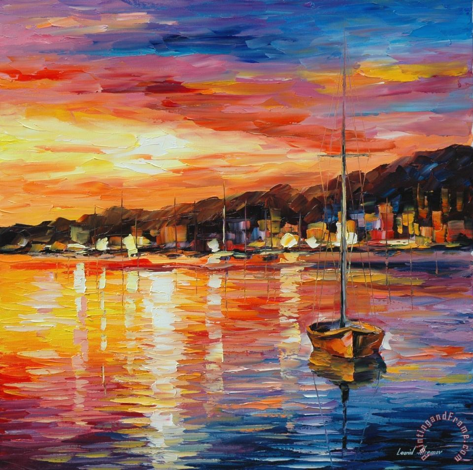 The Yellow Wallpaper Meaningful Quotes Leonid Afremov Sunrise Art Painting For Sale