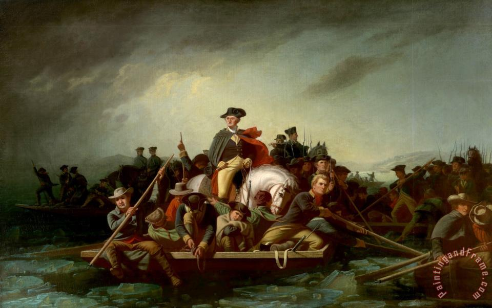 George Caleb Bingham Washington Crossing The Delaware painting