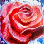 rose mixed media painting