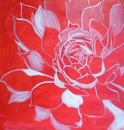 free acrylic painting lesson : drawing on canvas