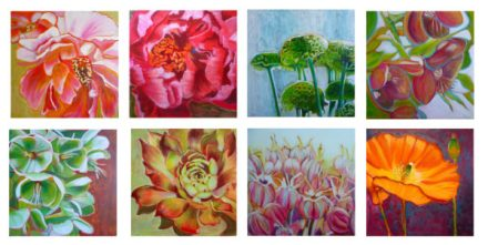 Flower painting tutorials