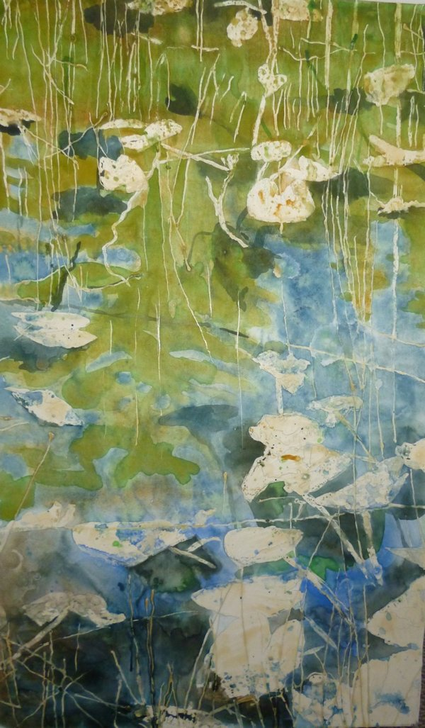 Painting lily pads with watercolor step by step painting for Watercolor painting step by step