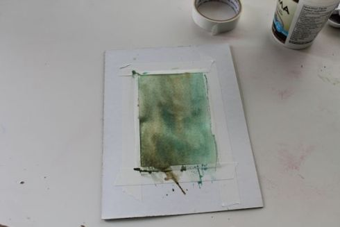 painting  a watercolor background