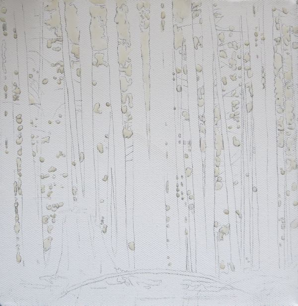masking fluid on canvas