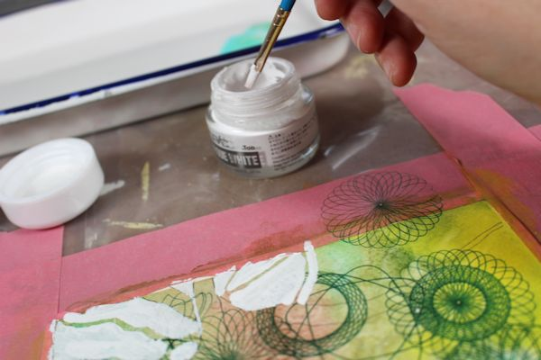 painting with white copic marker ink