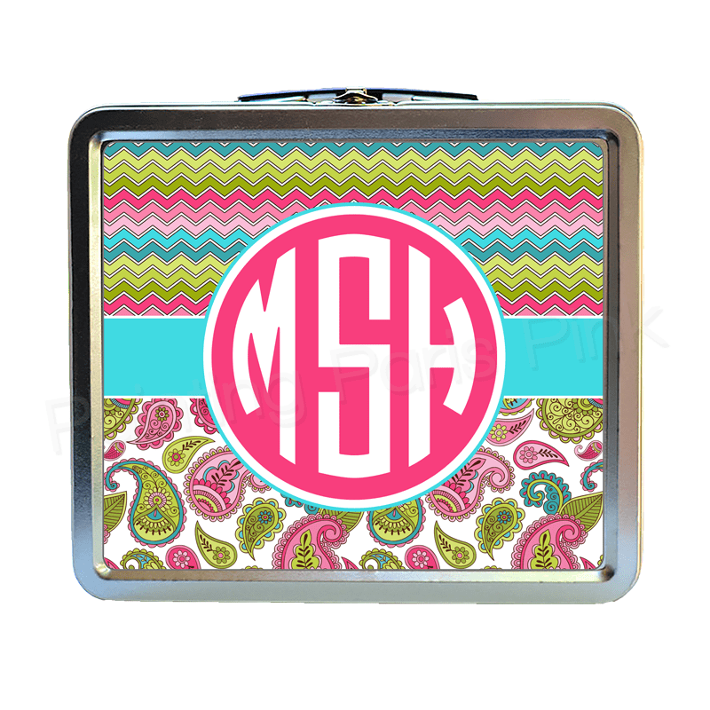 monogram lunch boxes