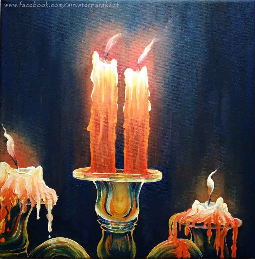 Candle Light Painting Candle Painting At Paintingvalley Explore Collection Of