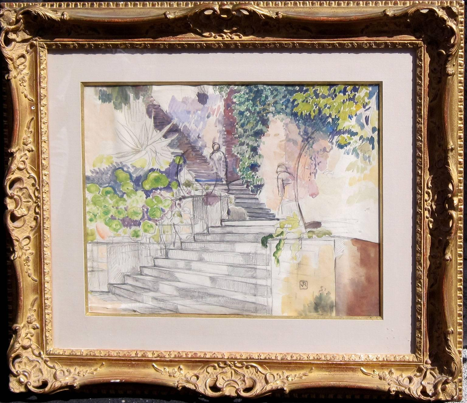 Art Escalier Escalier Painting At Paintingvalley Explore Collection Of