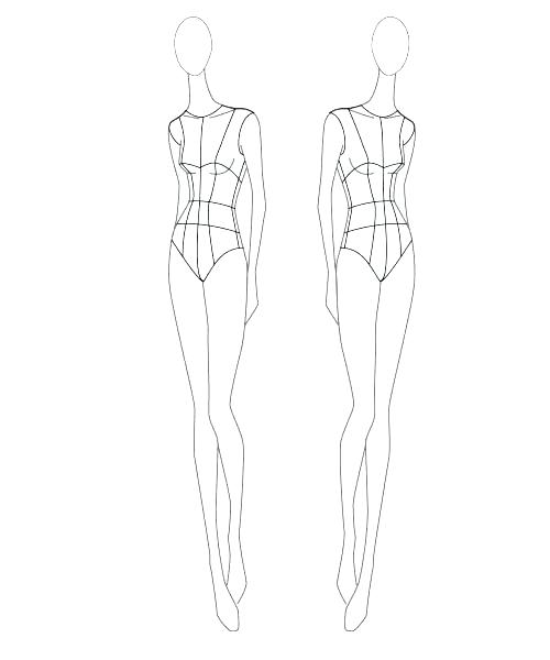 Body Template Sketch at PaintingValley Explore collection of
