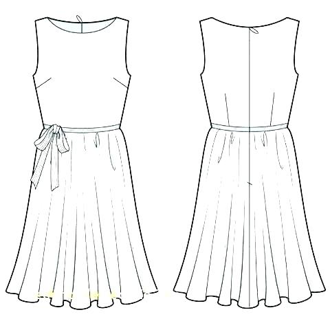 Dress Sketch Template at PaintingValley Explore collection of