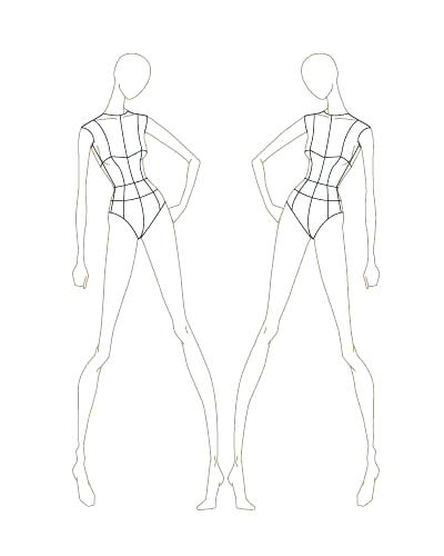 Female Body Sketch Template at PaintingValley Explore