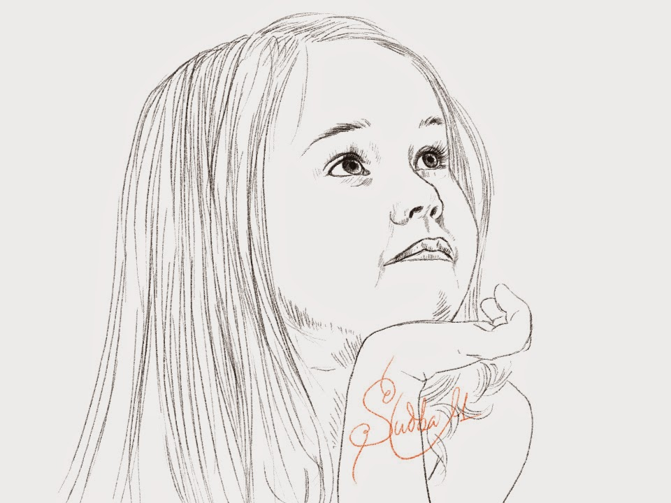 Little Girl Sketch at PaintingValley Explore collection of