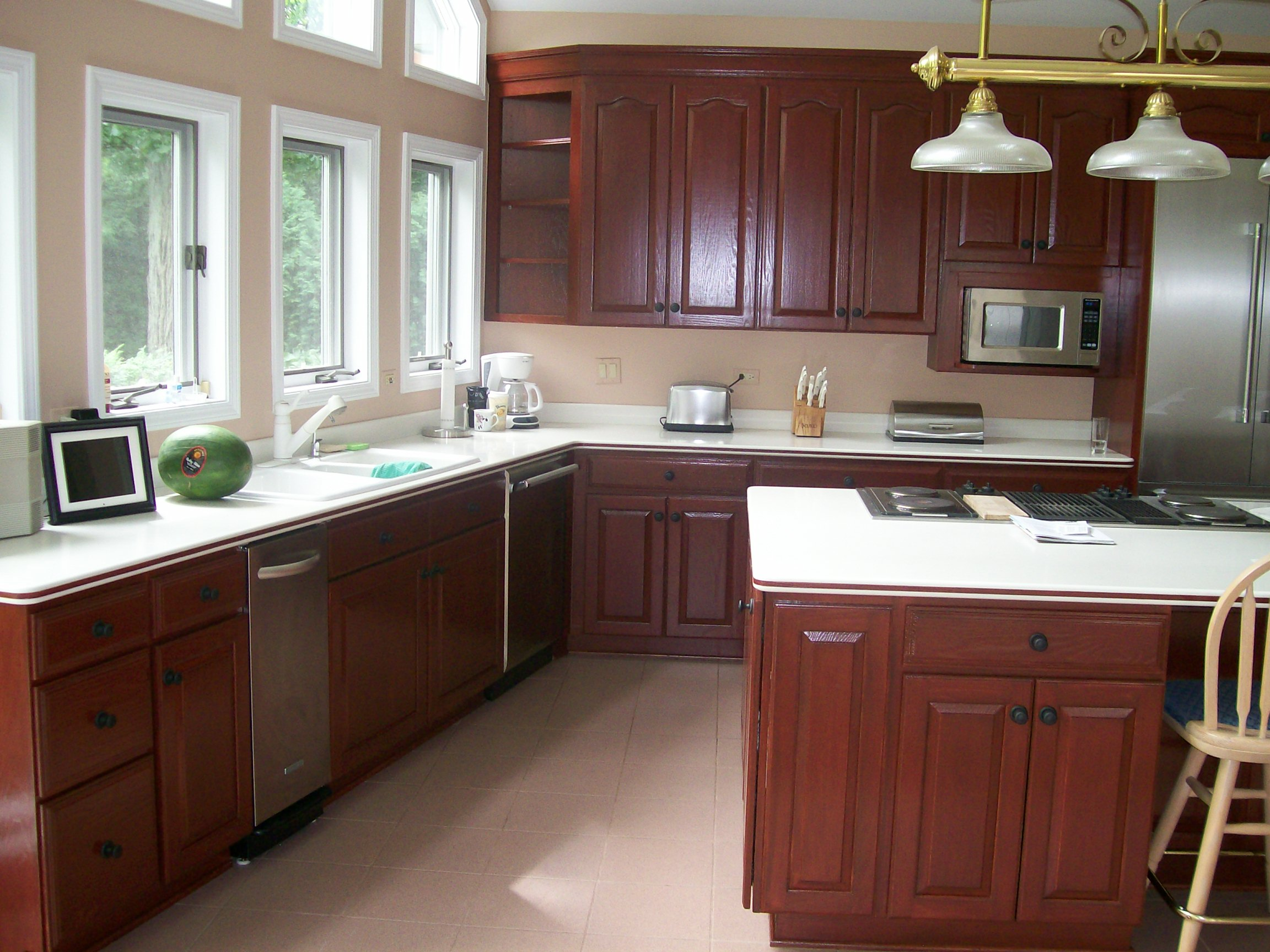 How To Paint Kitchen Cabinets In Mobile Home Painting Mobile Home Cabinets Home Painting Ideas