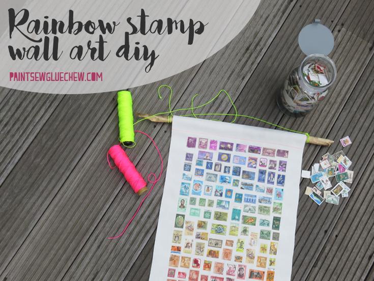 Rainbow stamp artwork 1